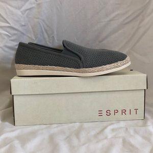 Esprit Shoes - New Esprit espadrille Flats, grey/dusty blue, 8.5